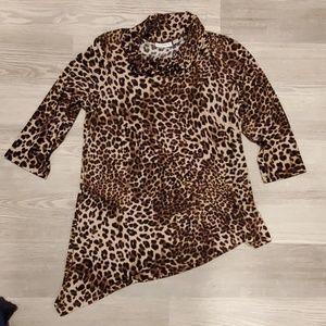 Cheetah Dress Top